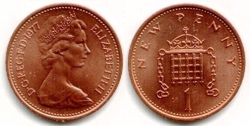 1977 Penny Error http://www.coins-of-the-uk.co.uk/pics/dec1.html