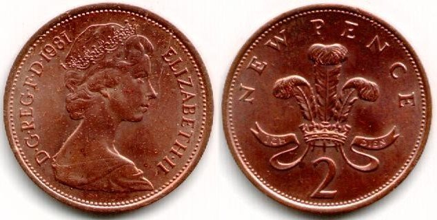 Uk Decimal Coins Two Pence