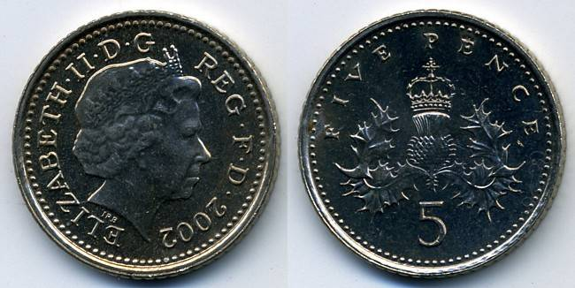 Pictures Of The Uk Decimal Five Pence