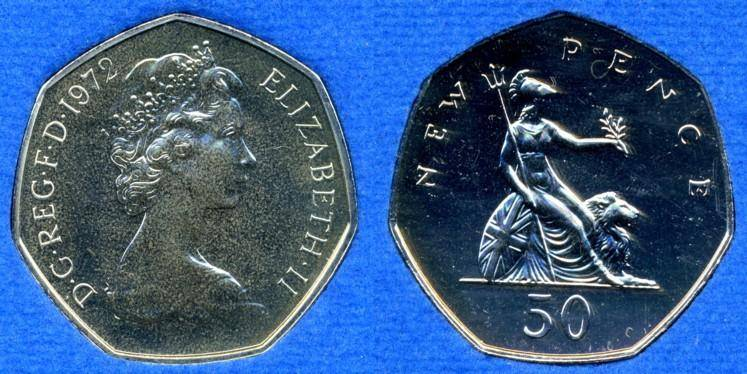 Uk Decimal Coins Fifty Pence