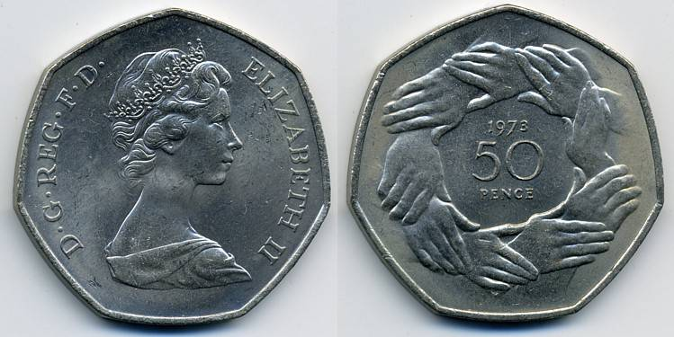 Pictures Of Uk Coins The Decimal Fifty Pence