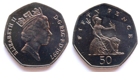 UK Decimal Coins - Fifty Pence