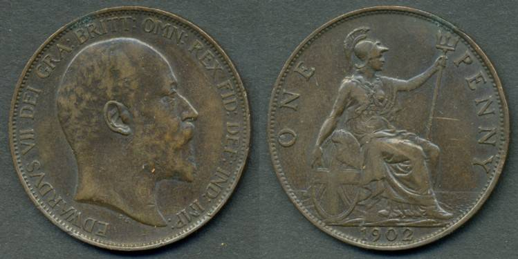 Pictures of Coins of the UK - The Penny (4)