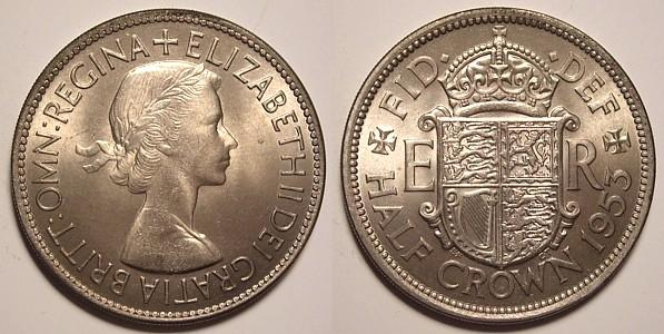 Pictures of Coins of the UK - The Half Crown