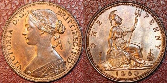 Values of Coins of the UK - The Penny (Copper or Bronze)