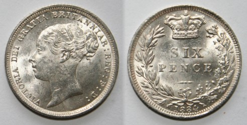 Coins of the UK - Sixpence