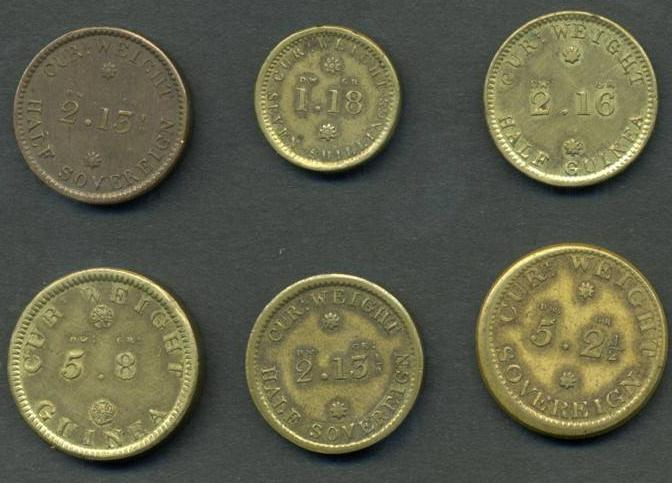 Pictures of Coins of the UK - Coin Weights